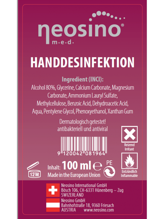 A3 Skinlotion Handdesinfektion